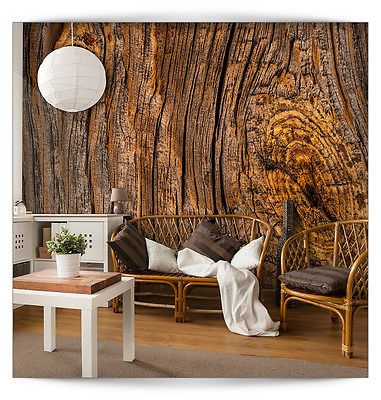 VLIES FOTOTAPETE 3D Holz TAPETE TAPETEN Schlafzimmer WANDBILD XXL - tapete für schlafzimmer