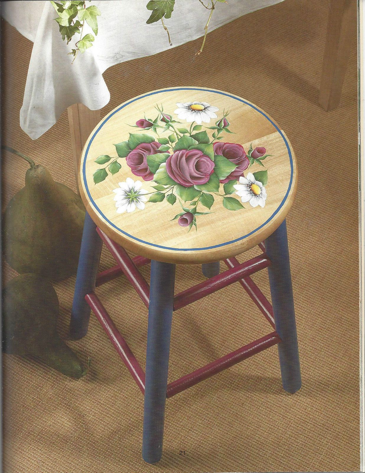 Lessons In Roses Decorative Tole Painting Book By