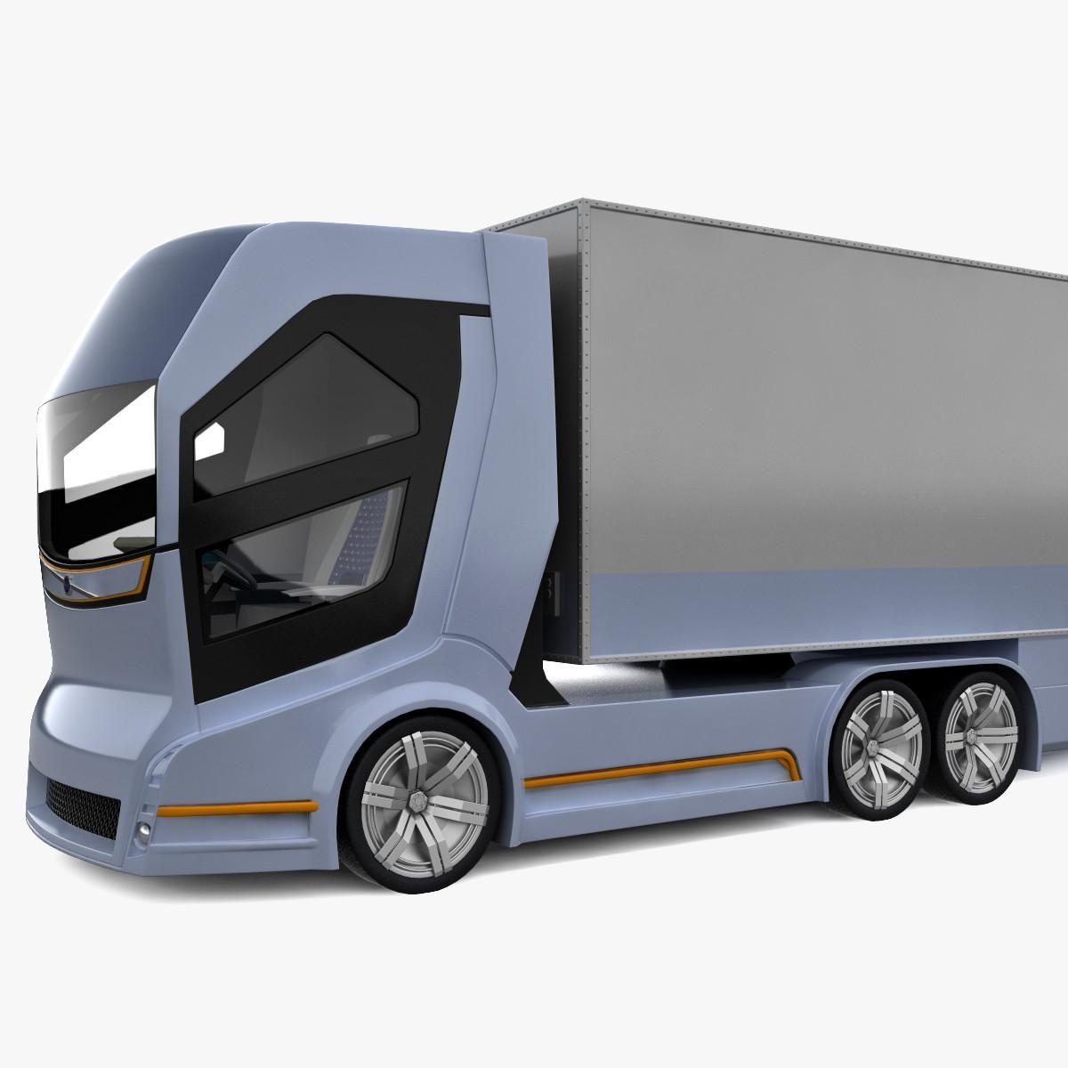 Concept Truck Volvo Vision 2020 3d Model Ad Volvo Truck Concept Model Volvo Trucks Concept