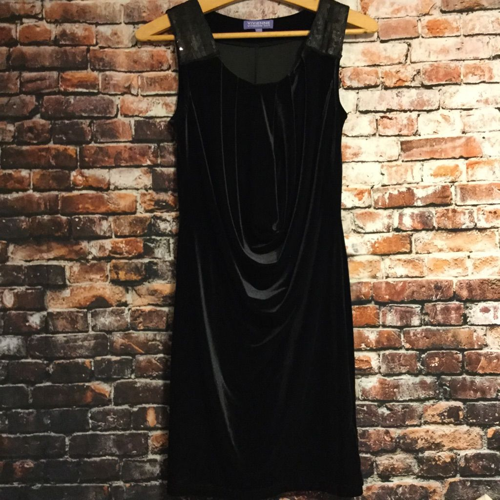 Vivienne tam black velvet dressxs products