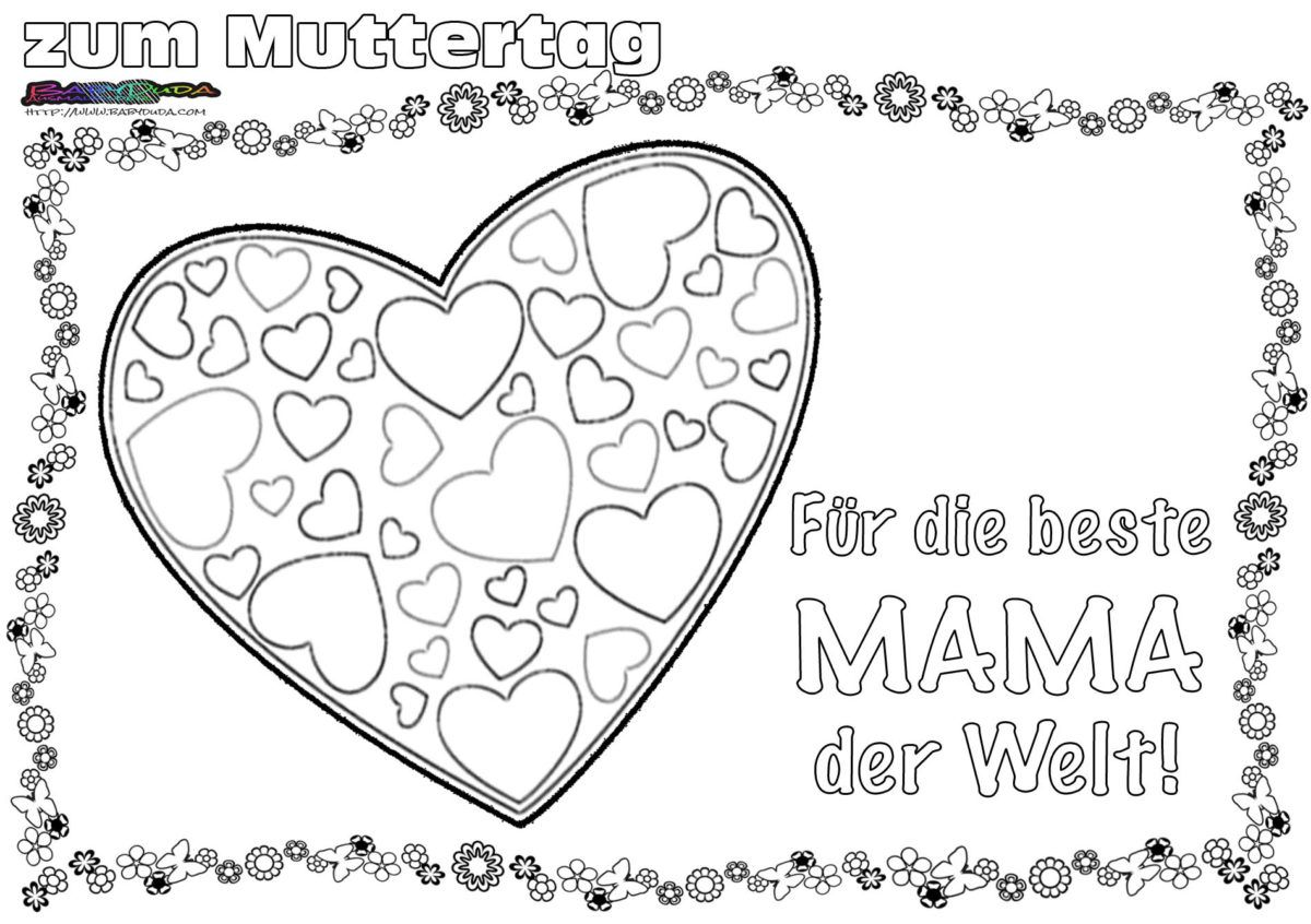 Muttertag Ausmalbild Malvorlage Gruss Mit Herz Babyduda Malbuch Muttertag Malvorlagen Muttertag Basteln Muttertag Vatertag Basteln