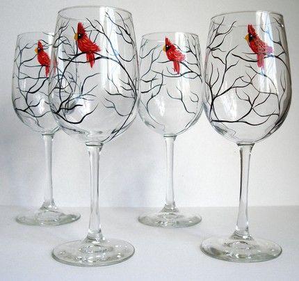 Bardak Boyama örnekleri Cam Bardak Glass Stained Glass Ve Wine