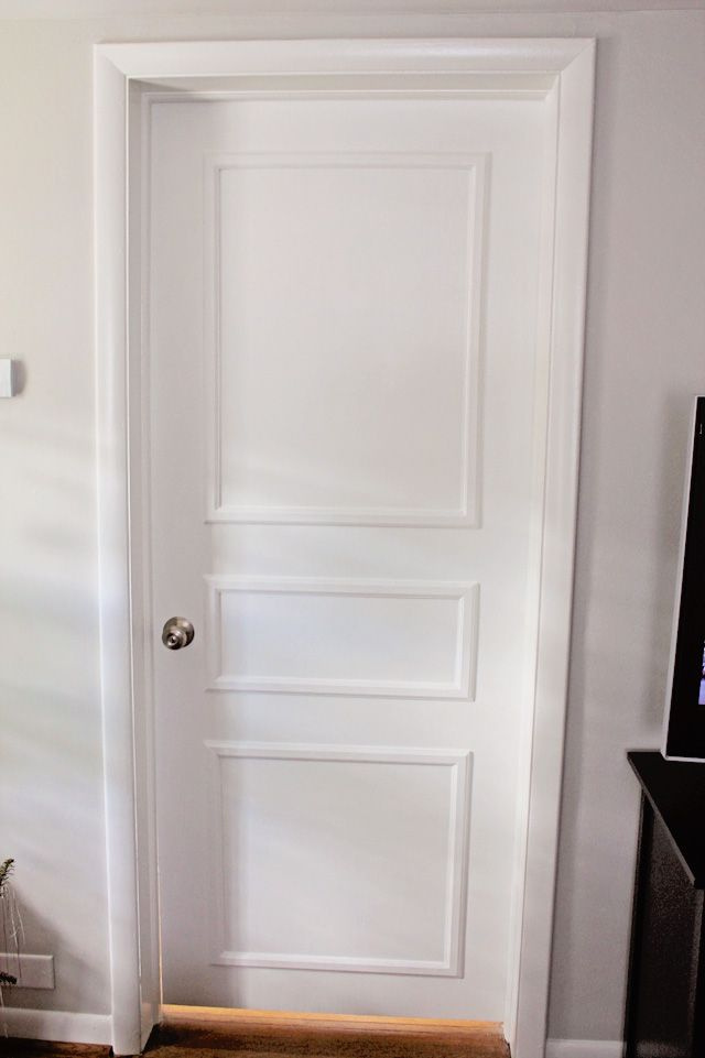 EB Loves Old Houses | DIY Door Trim for Plain Doors & DIY Door Trim for Plain Doors | Pinterest | Door trims Doors and House