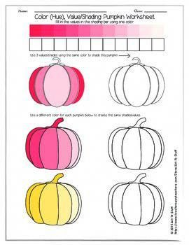 Color Value Pumpkin Worksheet WatercolorartIdeas