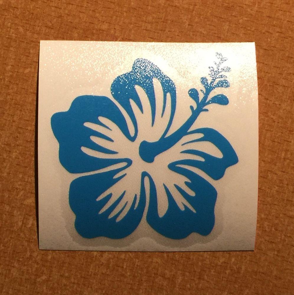 Hawaii Hawaiian Islands Hibiscus Flower 2 Vinyl Decal Bumper Sticker Sky Blue Pipelinesunsetwaimeabayalamoan Car Bumper Stickers Bumper Stickers Vinyl Decals [ 1000 x 996 Pixel ]