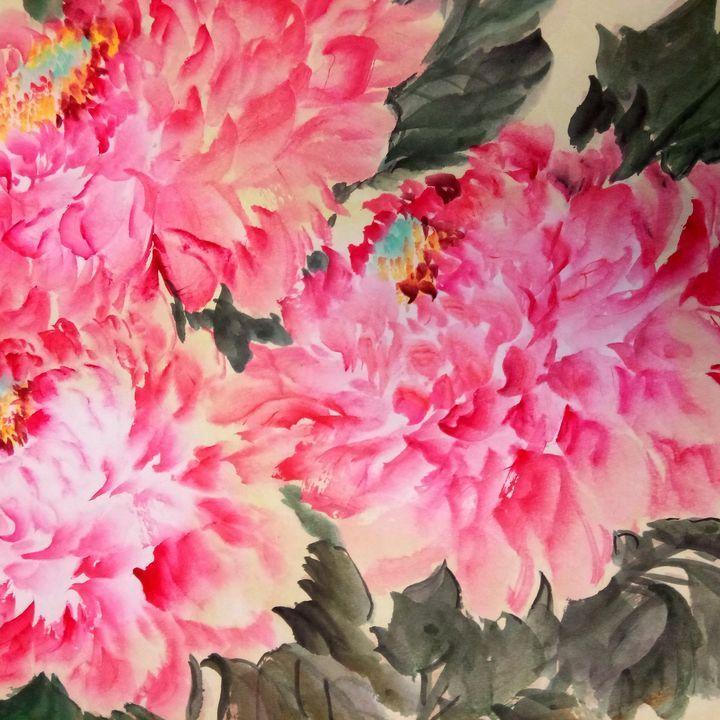 peony09292019-1 - sundongling watercolor  flower