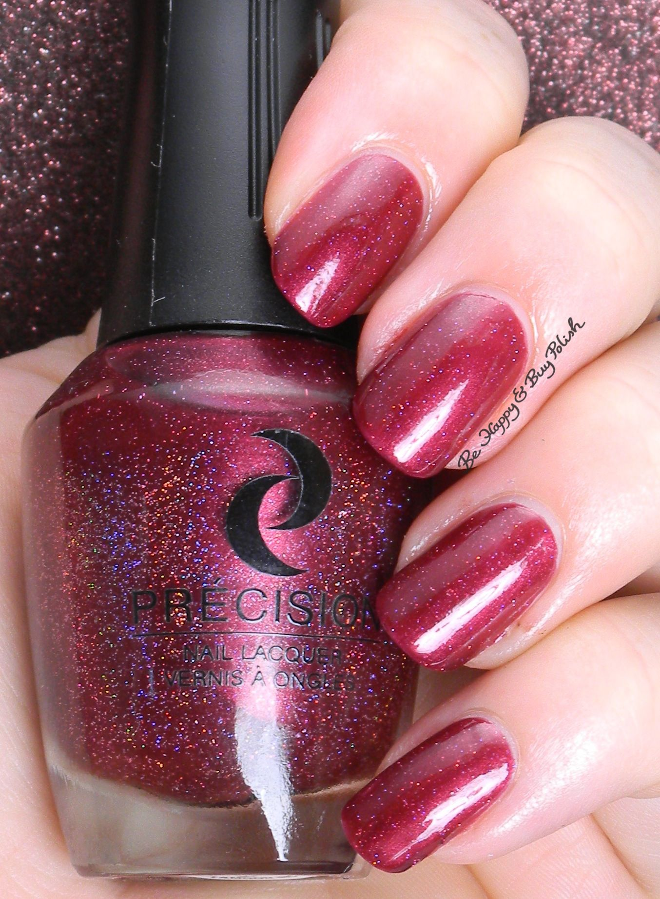Precision Nail Lacquer Shine Wine N Dine Be Hy And Polish