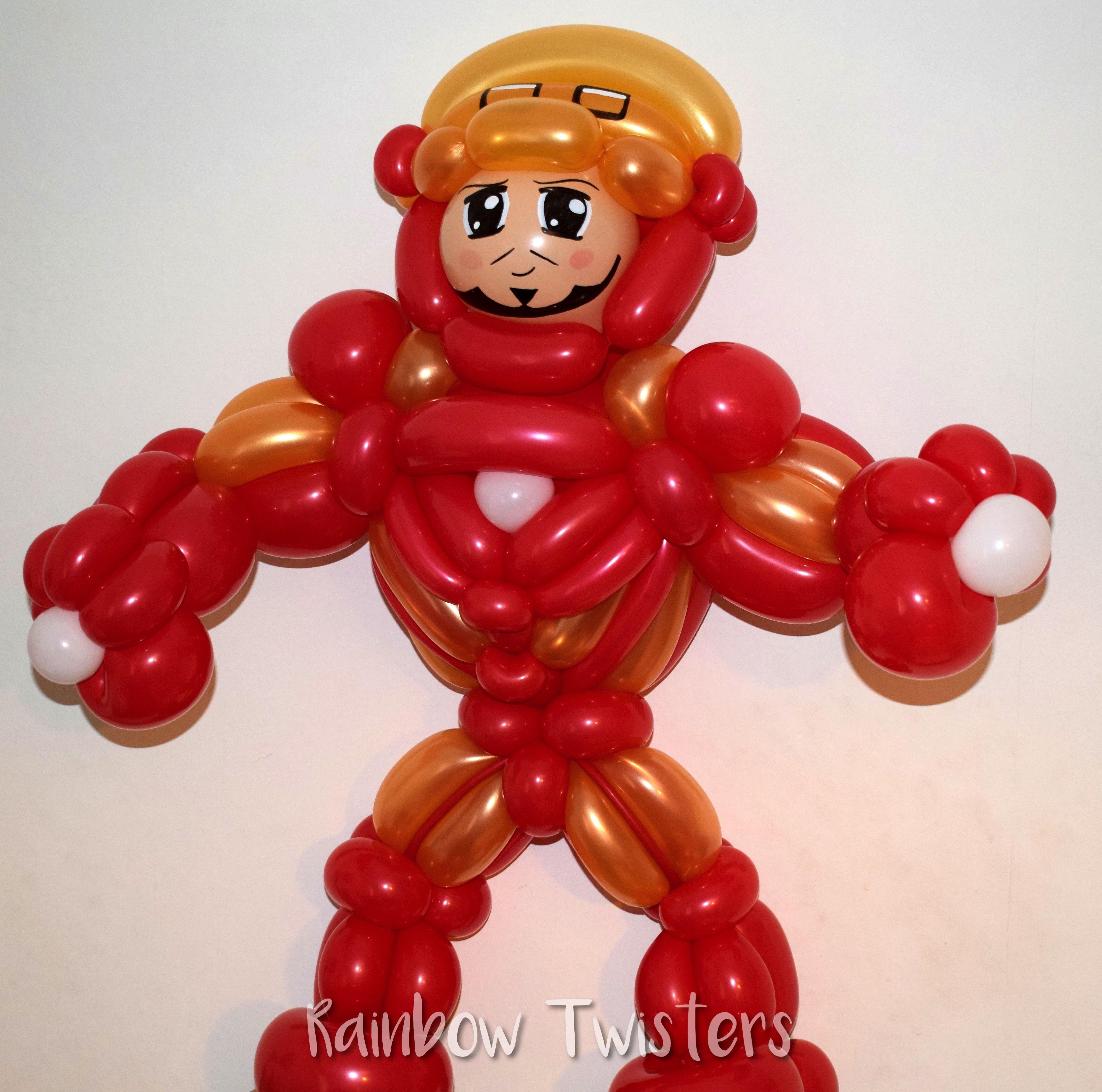 Ironman balloon model made by Rainbow Twisters www.RainbowTwisters.com