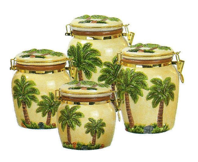 Palm tree kitchen theme collection is perfect for for Tropical themed kitchen