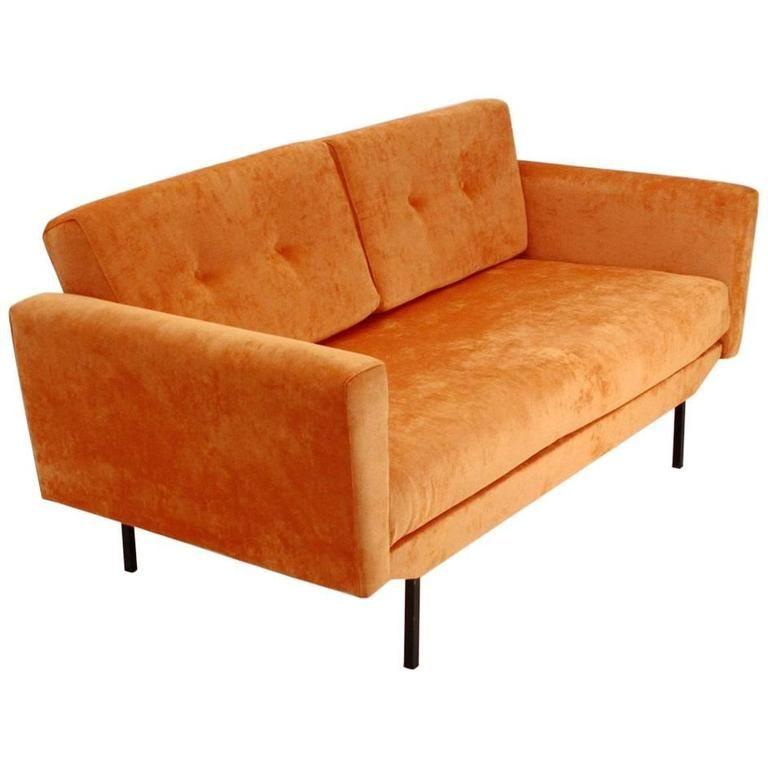 Italian Orange Velvet Sofa Bed Cozy Home Velvet Sofa Bed