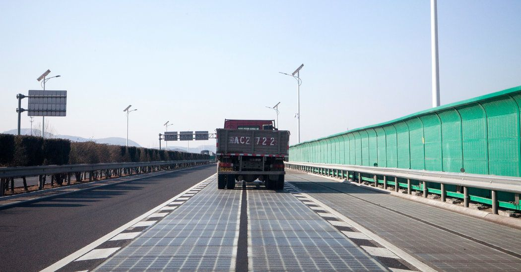Free Power From Freeways China Is Testing Roads Paved With Solar Panels Western Countries Have Been Looking Renewable Solar Solar Energy Information Solar