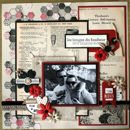 I really like this layout by Aurélie.  Found at Variations Creatives