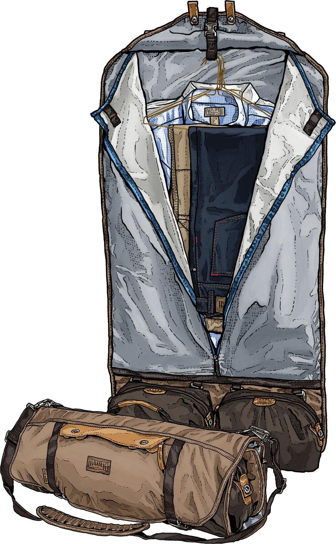 This ingenious overnight garment bag solves the short trip ...