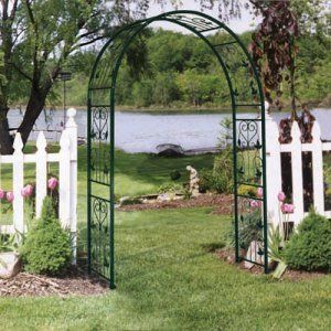 Iron Arch Arbor Arbors At Hayneedle Metal Garden Art