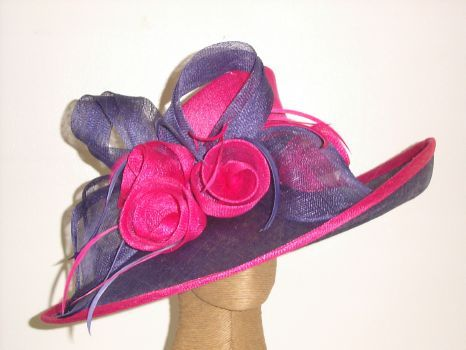 Louise Oliver Castlesteads Fuschia And Purple Ladies Hat Purple Lady Hats For Women Wedding Hats