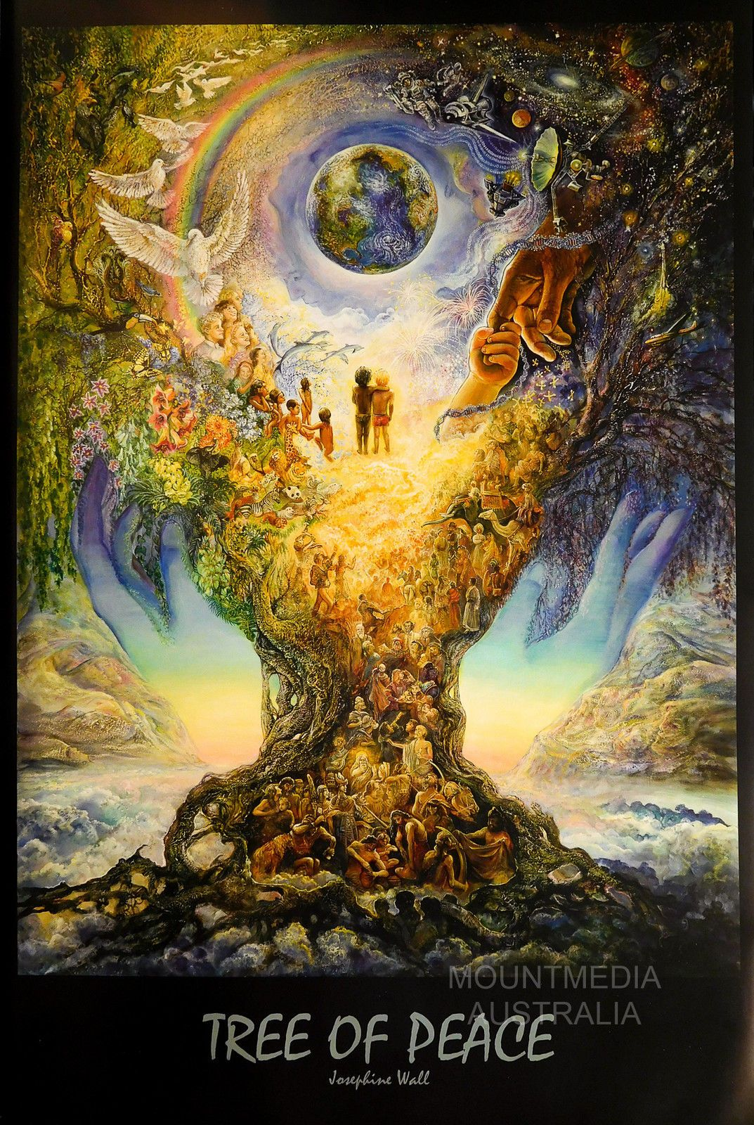 $16.32 AUD - Tree Of Peace Poster (61X91Cm) Jo Wall Licensed Art ...