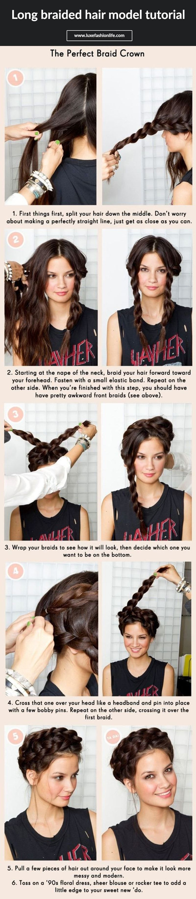 5 Minute Hairstyles For Girls Long Braided Hairstyle Tutorials Hairstyle Pinterest Braids