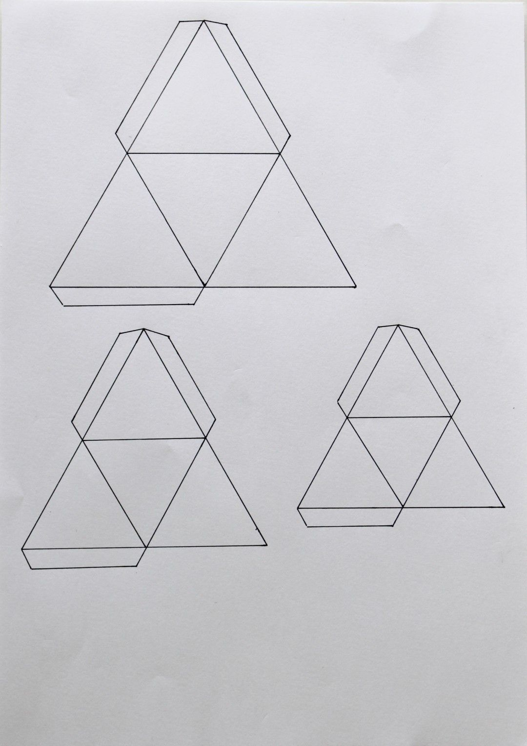 gabarit triangle 3d | かざり | Pinterest | Origami, Papercraft and Craft