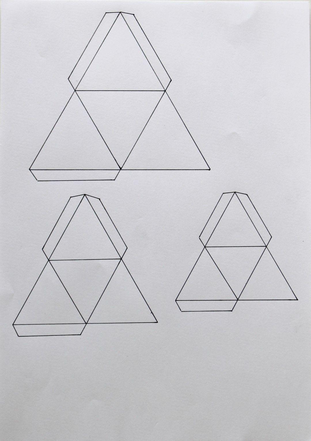 DIY PAPIER) Décoration triangulaire | Origami, Papercraft and Craft