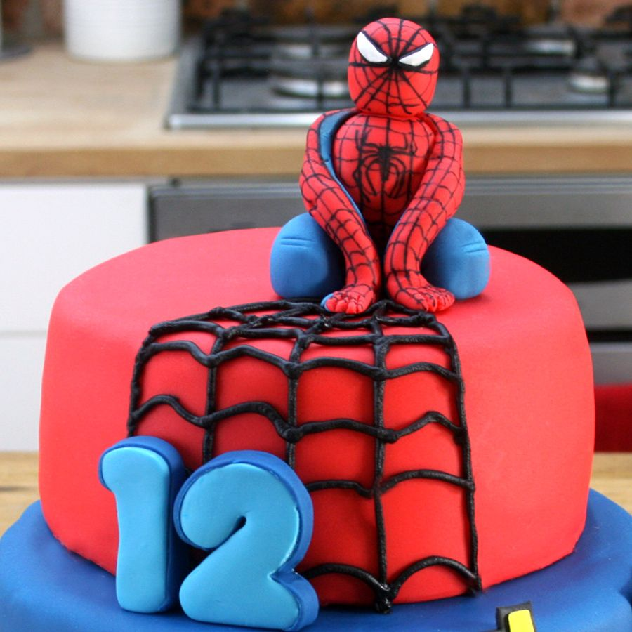 spiderman cake topper tutorial marvel cupcake decorations spiderman marvel pinterest. Black Bedroom Furniture Sets. Home Design Ideas