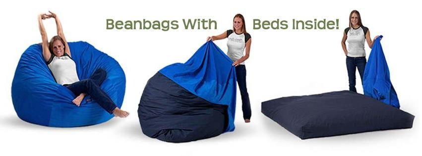 Beanbags with beds inside! Bean chair, Bean bag chair, Home