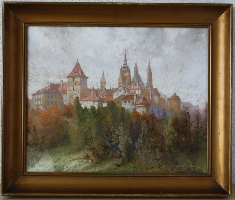 Karel Sustek, Pohled na Prazsky hrad