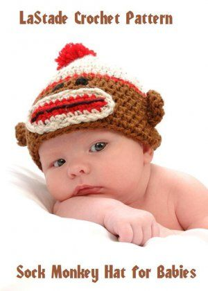 My Grandson Shane Is A Great Model For My Sock Monkey Baby Hat