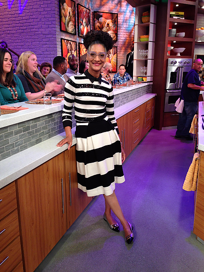 4fc9a8bc31047 Carla Hall Wardrobe Information from The Chew