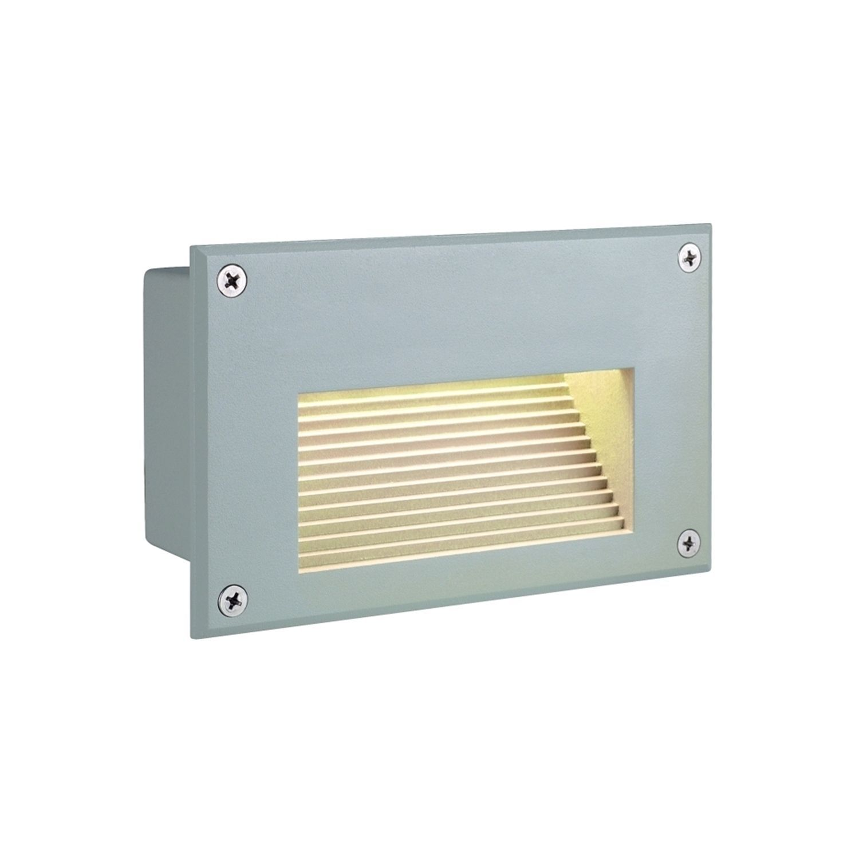 Slv lighting brick led downunder singlelight wall lamp silver grey