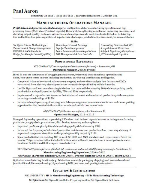 Operations Manager Report Template 2 Templates Example Templates Example Operations Management Manager Resume Project Manager Resume
