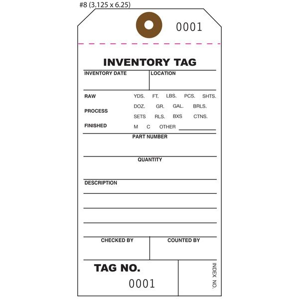 Inventory Tags, Numbered Tags, Part Asset Tags And Property Tags