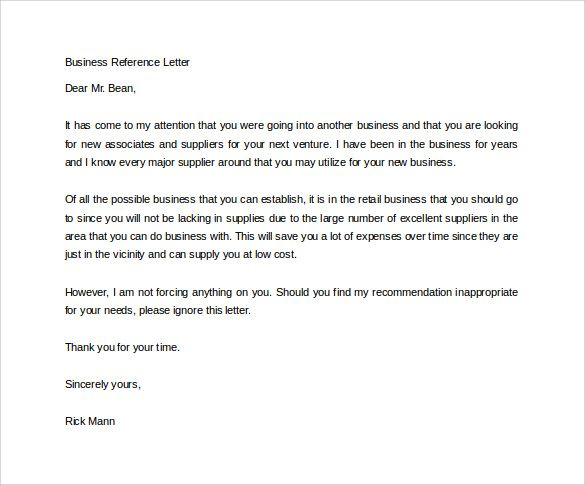business reference letter sample has the apt format and content - sample reference letter format