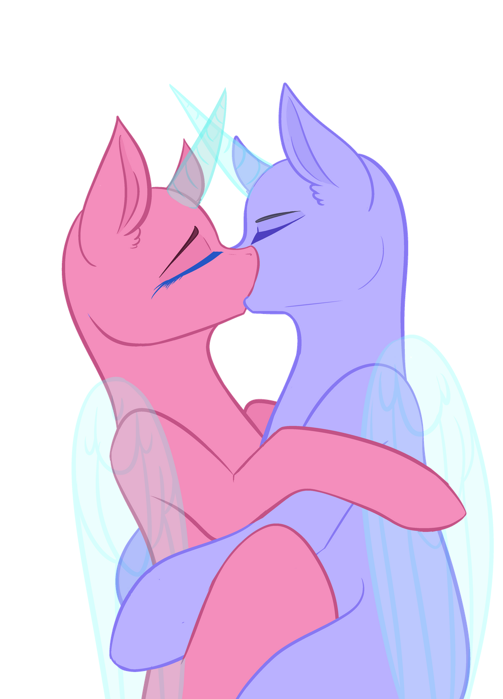 Base 4 Couple Kiss Free By Itzalayah On Deviantart In 2020 My Little Pony Drawing Drawing Base Pony Drawing