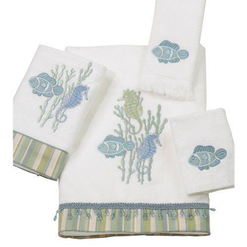 Avanti Reef Life 4Piece Towel Set White >>> Check out this