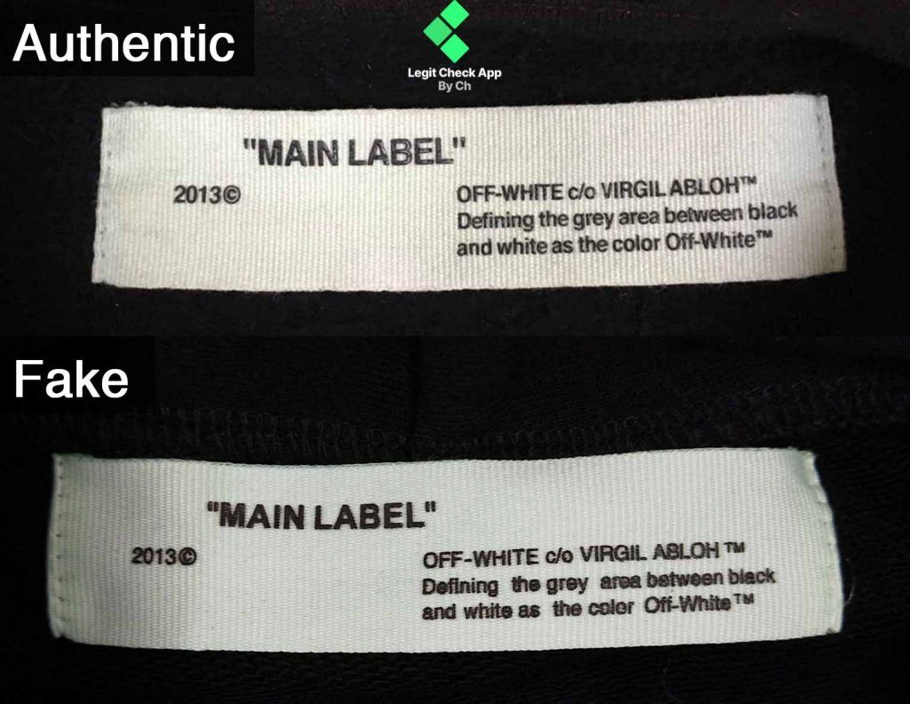 Step 2 Fake Vs Real Off White Galaxy Hoodie Neck Tag Galaxy Hoodie Neck Hoodie Off White [ 792 x 1024 Pixel ]
