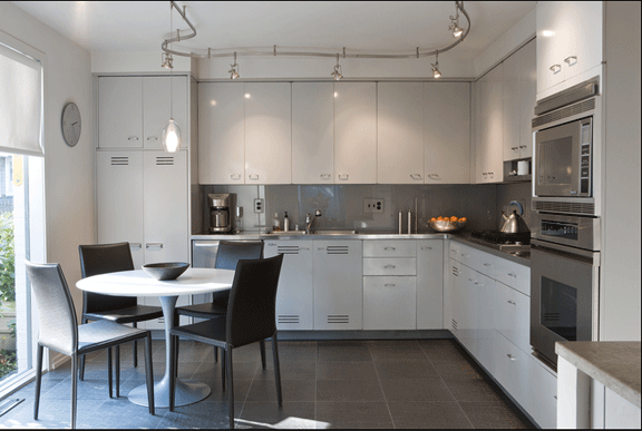 St. Charles Kitchens: Mad About Mod | home | Metal kitchen cabinets ...