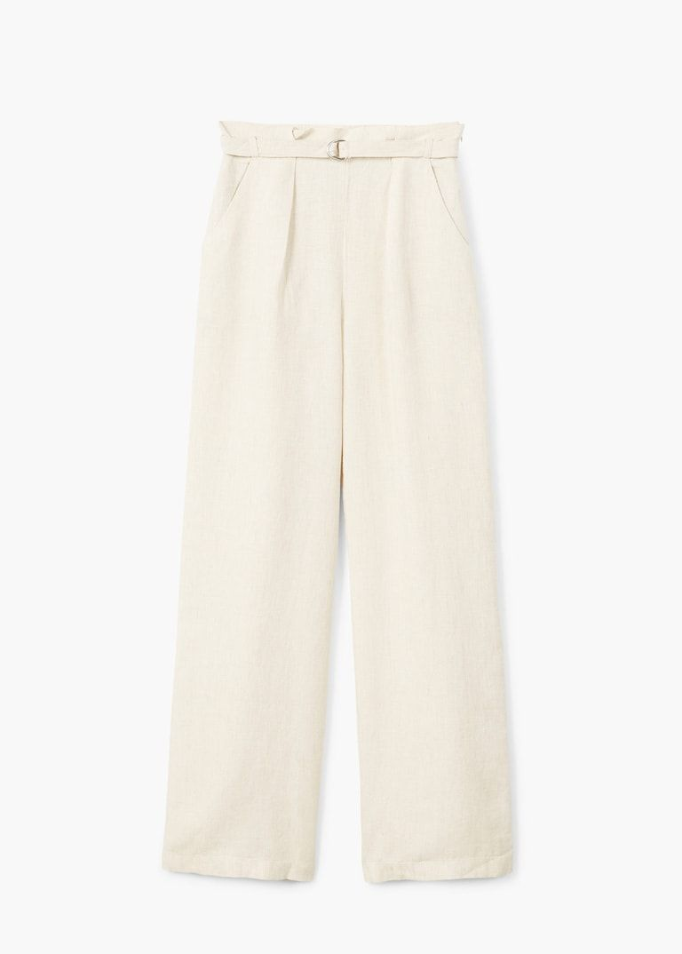 Photo of Belt line pants – Women   Mango USA