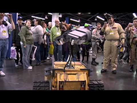 In this video you will see the completion of the track drive system, and our first public appearances. We took Michael Senna's WALL-E to WonderCon in Anaheim on March 17, 2012, and then all of our WALL-E's to Maker Faire in May (19-20), 2012.