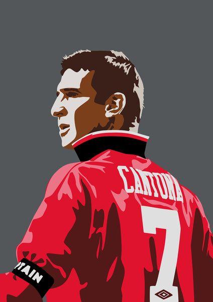 Mufc Iphone Wallpaper Cantona No 7 Art Print Fu 223 Ball Manchester United