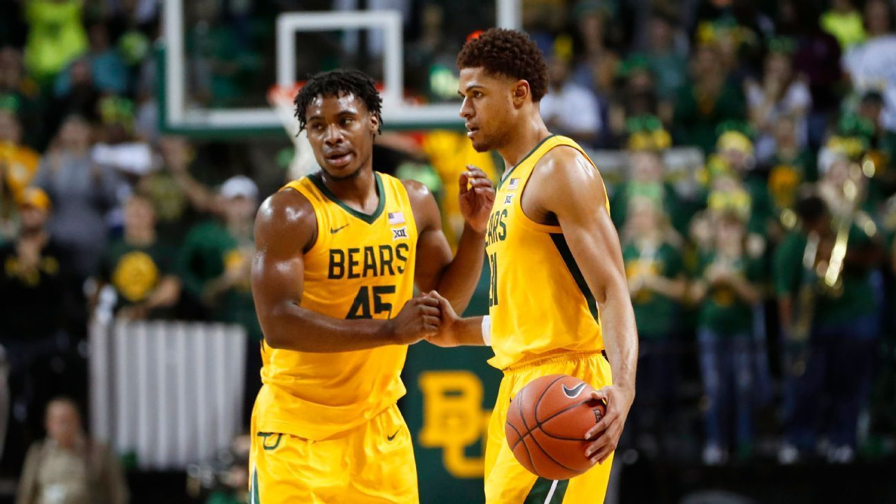 Baylor tops early rankings for NCAA tournament The Baylor