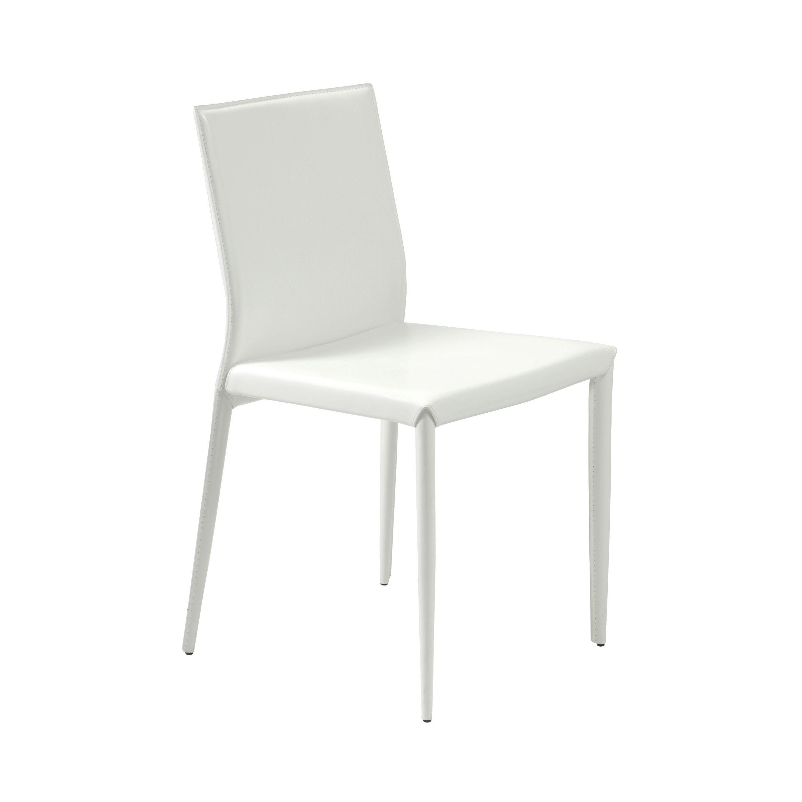 Euro Style Shen White Dining Chair (Set of 4) (White) (Faux ...
