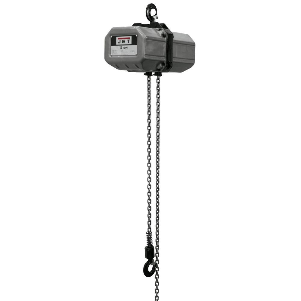 Jet 1 2 Ton Capacity 10 Ft Lift Electric Chain Hoist 1 Phase 115 230 Volt 1 2ss 1c 10 121100 Thrust Bearing Outdoor Power Equipment