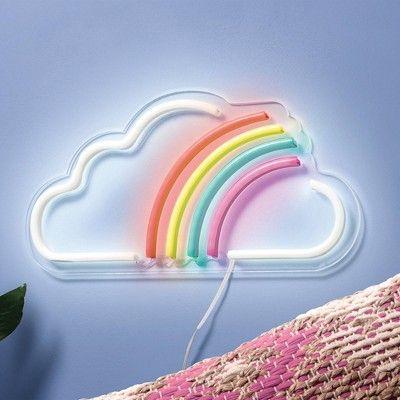 Rainbow Led Wall Light West Arrow Rainbow Room Decor Girls