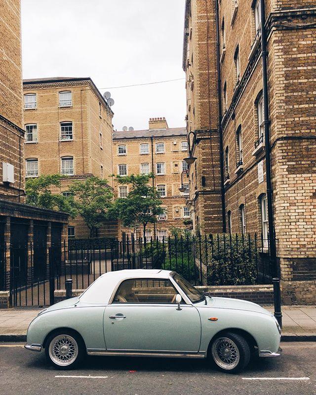 Bluebird Figaro on a grey old day. . #car #nissan #nissanfigaro ...
