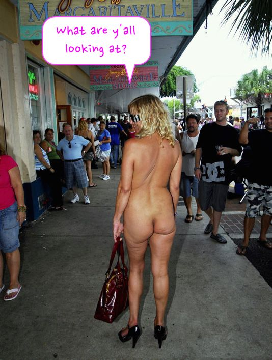 Idea Excuse, Butt naked in public business!