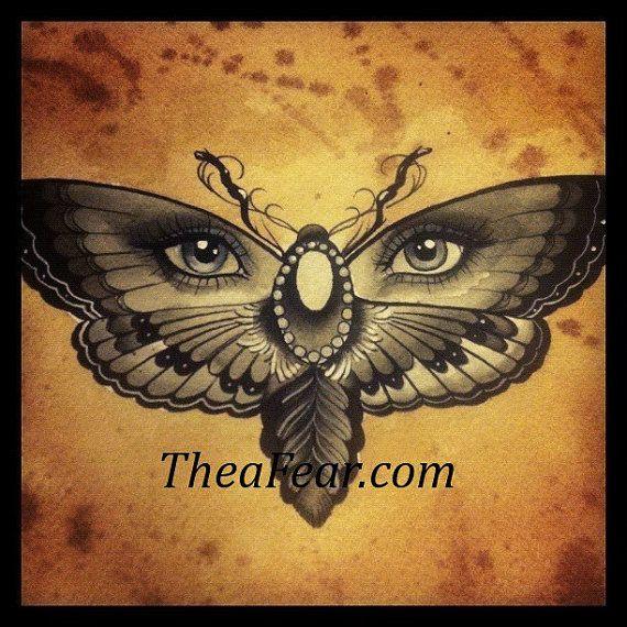 Butterfly Eyes Print Butterfly Eyes Butterfly Tattoo Moth Tattoo