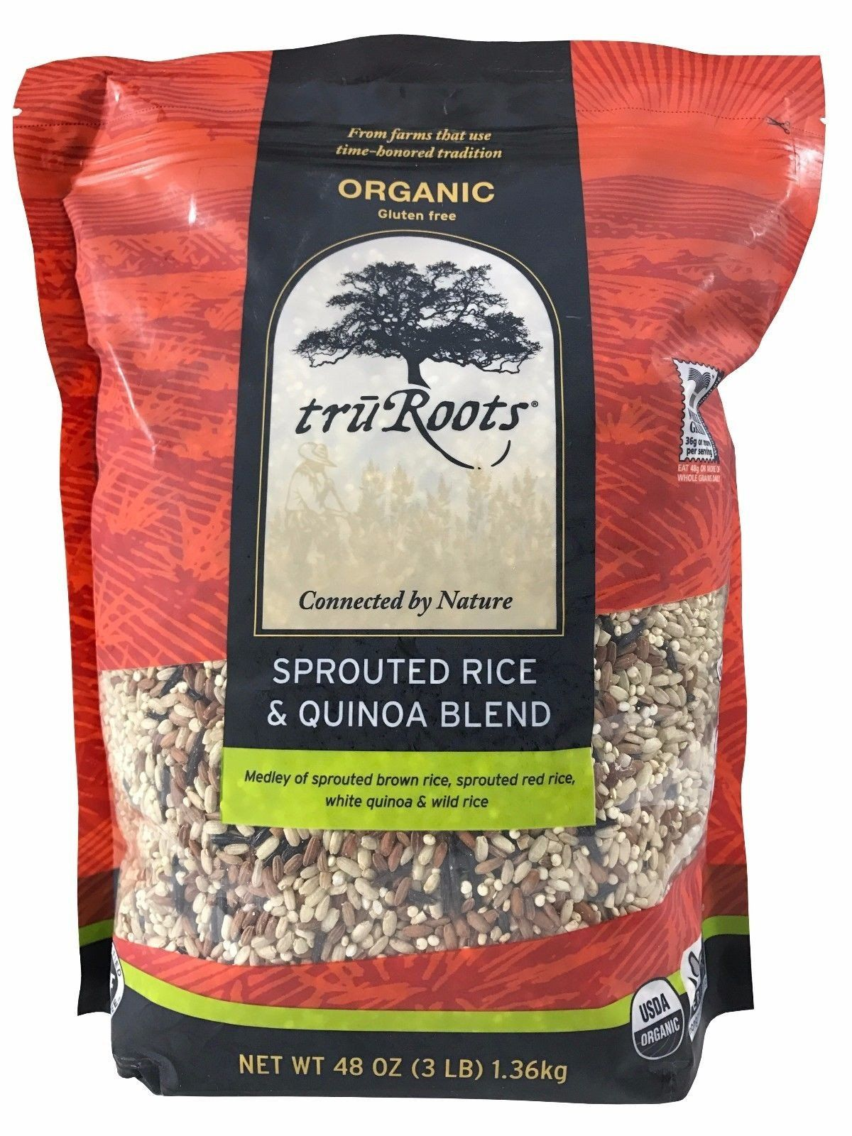 Tru Roots Organic Sprouted Rice & Quinoa Blend with Wild
