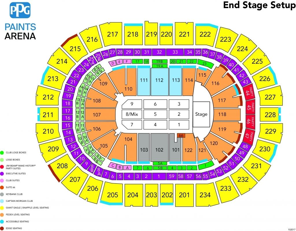 Toyota Center Seating Chart With Seat Numbers Seating Charts Ppg Paint Fedex Field