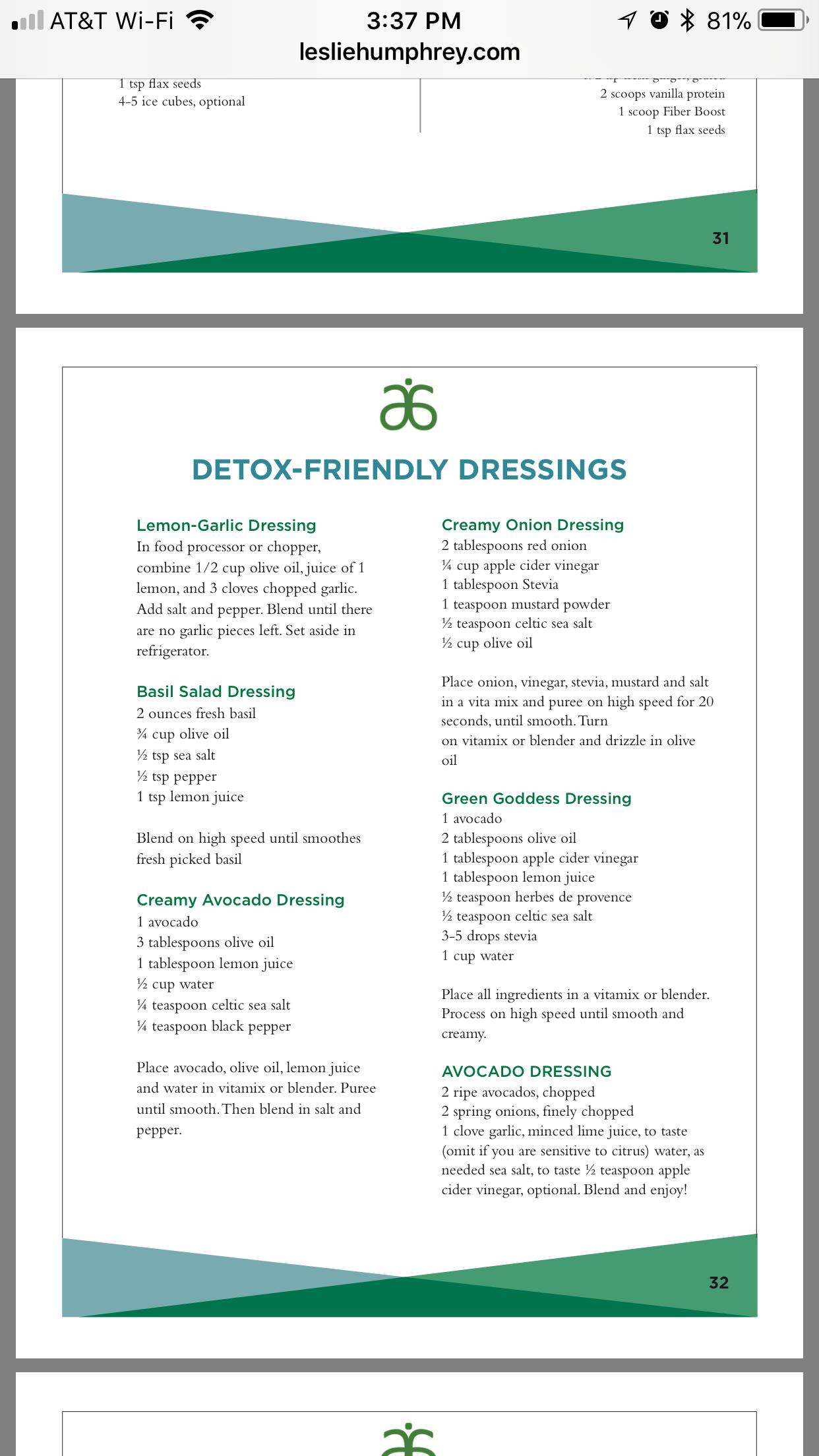 Dressings Food Ideas In 2019 Arbonne Detox Arbonne Shake Recipes Arbonne Nutrition