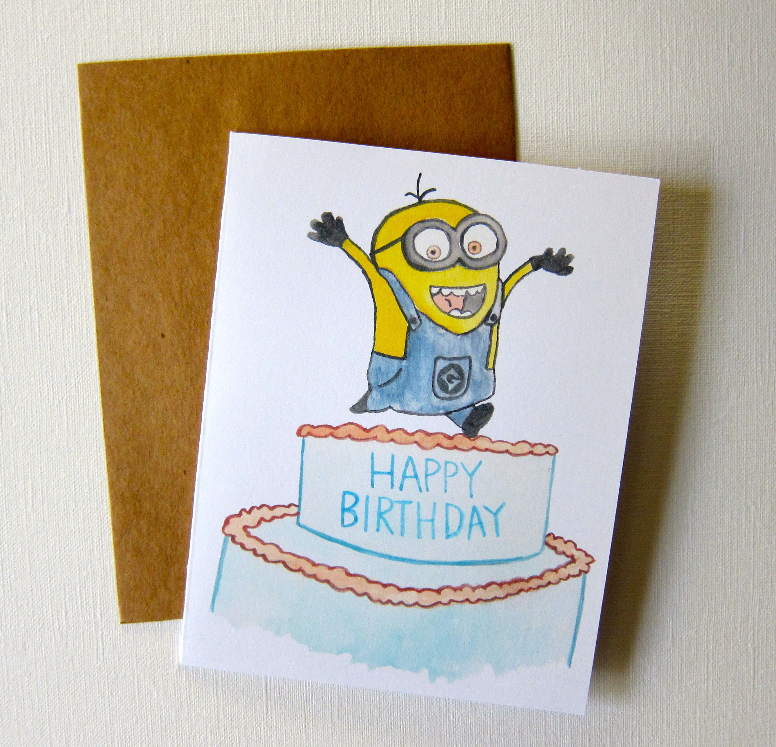 Despicable Me Minion Birthday Card Ideas Pinterest Minion
